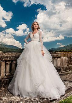 Model M01.16 Stunning Wedding Dresses, Designer Wedding Dresses, Maya Fashion, Fashion 2016, Romanian Wedding, The Bride, One Shoulder Wedding Dress, Wedding Day, Elegant
