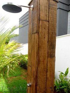 ducha piscina madeira - Pesquisa Google