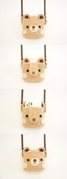 Crochet Case for Fuji Instax Camera Cute Bear by Meemanan on Etsy:
