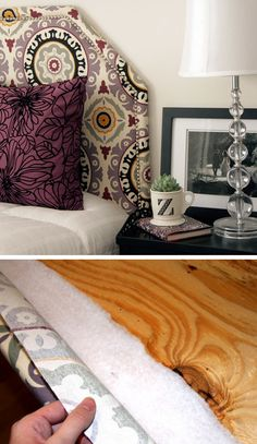Upholstered Headboard with Nailhead Trim | Click for 18 DIY Headboard Ideas | DIY Bedroom Decor Ideas on a Budget