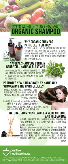 Everything You Need To Know About Organic Shampoo – Positive Health Wellness Infographic