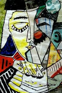 Picasso cubist collage - good step by step instructions