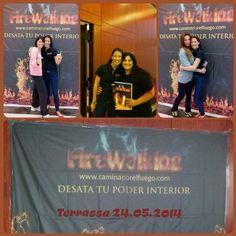 Empezando un maravilloso día en Barcelona!!! Firewalking en Terrassa! Compis mary kay compartiendo la experiencia!!! Hoy sera un gran día!!! #firewalkingbarcelona