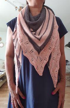 Test knit Châle Linda par Sandra