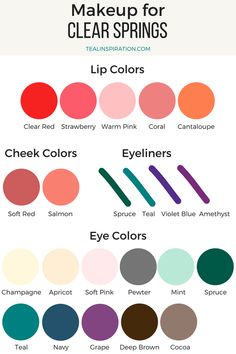 Clear Spring Makeup Colors #fashionspring,