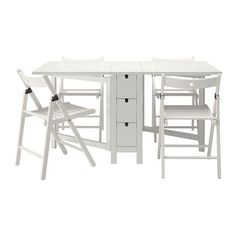 Ikea Fold Away Table And Chairs - Now, they have come to be an important part of home interiors. The traditional desk was Dining Booth, Glass Dining Table, Dining Table In Kitchen, Dining Table Chairs, Kitchen Chairs, Dining Sets, Ikea Folding Chairs, Fold Up Chairs, Ikea Norden Table