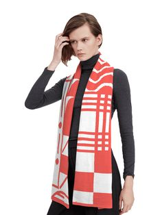 Pattern Scarf by Unmade x Studio Moross. Move the pattern and play with colour to create your own unique knitwear.