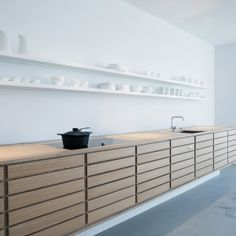 Form 1 in whitestained oak   Sola Kitchens