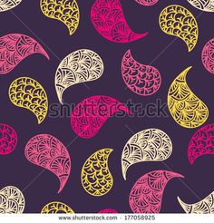 Paisley vector seamless pattern. Modern stylish texture. Repeating abstract background. - stock vector