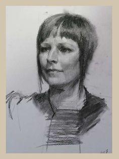 2 hour charcoal portraits by Louis Smith | Paint a portrait