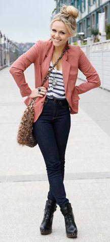 Pink blazer!!! Love!!