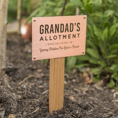 Personalised Solid Copper And Oak Allotment Sign Are you interested in our Garden sign? Street Name Sign, Personalised Love Hearts, Peg Hooks, Monogram Coasters, Photo Coasters, Engagement Cards, Sunday Roast, Glass Photo, Bridesmaid Cards