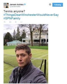 Jensen on Twitter :)
