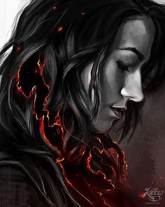 "katetrish: ""Carmilla on Fire by Kate Trish "" Carmilla And Laura, Carmilla Series, Vampire Shows, Vampire Art, Elise Bauman, Grimm Tales, Fanart, Lesbian Love, Web Series"