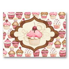 Cupcake Bakery Business Card- SRF