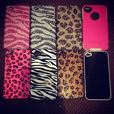 this is basically what my collection of iphone 4 cases look like nothing but leopard print & hello kitty ♡ Cool Iphone Cases, Cool Cases, Cute Phone Cases, Laptop Cases, Ipod Touch Cases, Accessoires Iphone, Coque Iphone, Iphone Accessories, Mobile Cases
