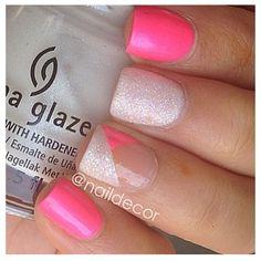 Blanco y rosado