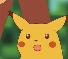 The Surprised Pikachu meme has proven to be strong increase your meme's value by using the HD version made by yours truly (reupload) Pikachu Pikachu, Pikachu Memes, Stupid Memes, Funny Memes, Memes Lindos, Blank Memes, Aesthetic Memes, Cartoon Painting, Painting Meme