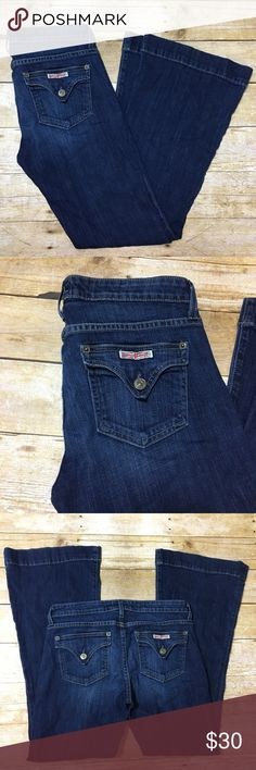 """HUDSON Medium Wash Flare Jeans Size 28 Hudson medium wash Flare bottom jeans. Size 28. Waist flat 15"""" rise 8"""" Inseam 29.5"""". Gently worn, great condition Hudson Jeans Jeans Flare & Wide Leg"""