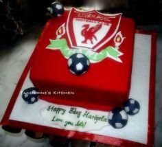 Liverpool football team themed cake