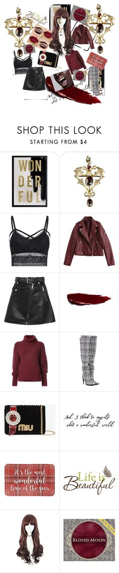 """Untitled #171"" by eveyevrycool ❤ liked on Polyvore featuring Oliver Gal Artist Co., Maje, BY. Bonnie Young, Off-White and Miu Miu"