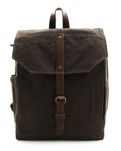 "HECTOR BACKPACK / 299€ / WAX COATED COTTON / MEN'S BAG / Go in style with this well designed backpack. On the inside you will find a padded compartment for a 15"" laptop. With multiple storage and organizational pockets all your stuff will be sorted. The Hector Backpack is available in a waxed coated canvas."