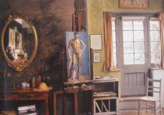 Duncan Grant's studio at Charleston, Sussex, England