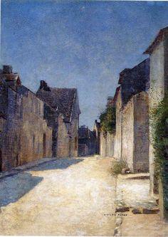 Odilon Redon - Street in Samois (1888)