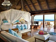 Dream bedroom. Look out of your window and see the ocean!