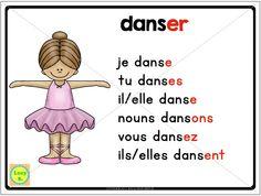 "$ Conjugation Poster - part of ""Les Verbes en -ER"" - a pack of resources in French #français"