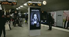 Ads that interact with their surroundings. Billboard has ultrasonic sensors that monitor the train's arrival, triggering the girl's blowing hair. https://www.facebook.com/diplyofficial