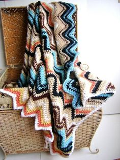 Missoni Inspired by Boots Blanket  pattern on Craftsy.com-love the color combo