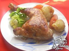 Pollo asado a la miel