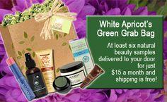 Natural and Organic Beauty Samples, Subscription Boxes | Green Grab Bag