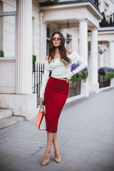 Chic working outfit London style