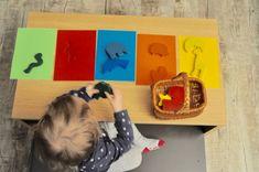 Montessori-inspirierte Spiele selber machen – Farben lernen