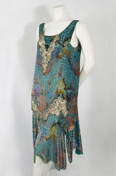 Devoré velvet flapper dress, c.1926, from the Vintage Textile archives.