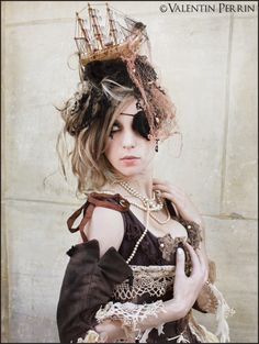via Steampunk Dream Steampunk Pirate, Steampunk Cosplay, Steampunk Fashion, Steampunk Wedding, Pirate Fashion, Lolita Fashion, Costume Makeup, Cosplay Costumes, Victorian Goth