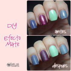 DIY: Efecto mate en tus uñas