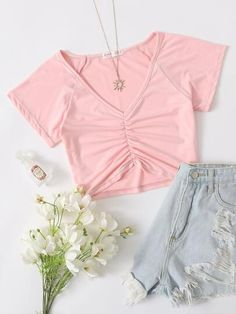 Trendy Summer Outfits, Cute Girl Outfits, Cute Casual Outfits, Outfits For Teens, New Outfits, Kpop Fashion Outfits, Girls Fashion Clothes, Girl Fashion, Zeina