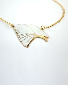 Open Book Necklace • Design Store • Design Glut