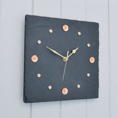 Slate, Copper And Brass Wall Clock by Winning Works, the perfect gift for Explore more unique gifts in our curated marketplace. Copper Mirror, Copper And Brass, Solid Brass, Modern Desk Accessories, Love Your Home, Copper Kitchen, Wooden Clock, Tin Candles, Handmade Christmas Gifts