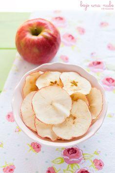 Chips de manzana, un aperitivo sano y bajo en calorías. #chips #manzana #light