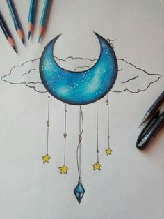 My drawing - Kunst Bilder - Art Sketches Cute Easy Drawings, Pencil Art Drawings, Art Drawings Sketches Simple, Doodle Drawings, Colorful Drawings, Doodle Art, Simple Drawing Designs, Cute Drawings Tumblr, Cool Designs To Draw
