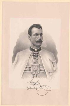 Litho of Archduke Eugen of Austria-Teschen Grand Master of the Teutonic Order. Archduke, Holy Roman Empire, Austro Hungarian, The Grandmaster, Ferdinand, Lorraine, Hungary, Austria, Knight
