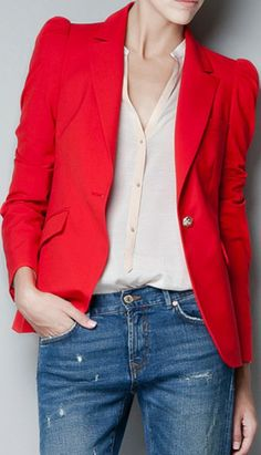 Women suit Red. blazer for women