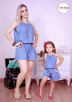 """""""Mommy and I are ready for hot weather. Mother Daughter Pictures, Mother Daughter Matching Outfits, Mother Daughter Fashion, Mom Daughter, Matching Family Outfits, Mom And Baby Outfits, Kids Outfits, Fashion Kids, Casual Mom Style"""
