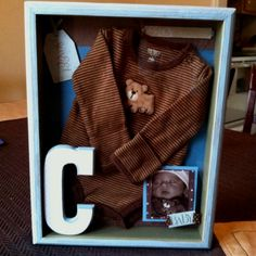 Shadow Box idea for coming home items: could make preemie one for Robert's stuff