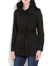 #vcukwearyourwardrobe Black Jersey Snood Coat .new look