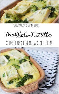 Wenns mal schnell gehen muss, ist die Fritatta das perfekte Low-Carb-Rezept! Hier mein aktuelles Lieblingsrezept mit Brokkoli und Brie.